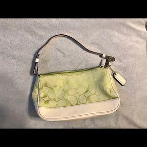 Small Coach lime green bag. Rare color!!